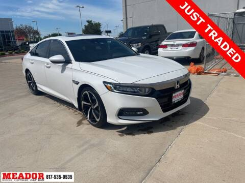 2018 Honda Accord for sale at Meador Dodge Chrysler Jeep RAM in Fort Worth TX