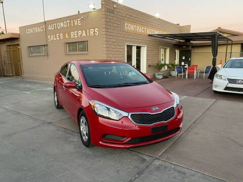2016 Kia Forte for sale at CONTRACT AUTOMOTIVE in Las Vegas NV
