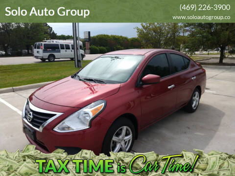 2019 Nissan Versa for sale at Solo Auto Group in Mckinney TX