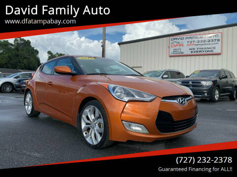 2013 Hyundai Veloster for sale at David Family Auto in New Port Richey FL