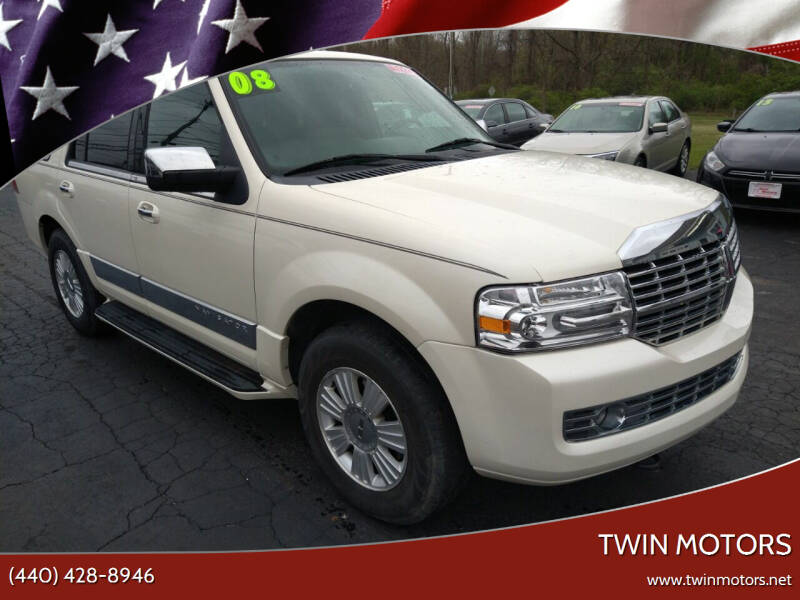 2008 Lincoln Navigator for sale at TWIN MOTORS in Madison OH
