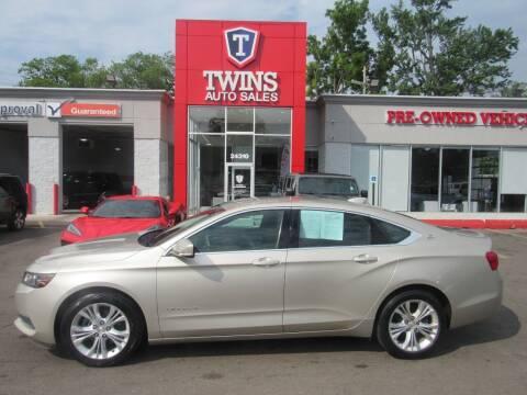2015 Chevrolet Impala for sale at Twins Auto Sales Inc in Detroit MI
