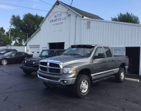 2005 Dodge Ram Pickup 3500 for sale at Autos Unlimited, LLC in Adrian MI