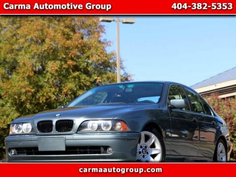 2002 BMW 5 Series for sale at Carma Auto Group in Duluth GA