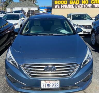 2017 Hyundai Sonata for sale at Global Auto Group in Fontana CA