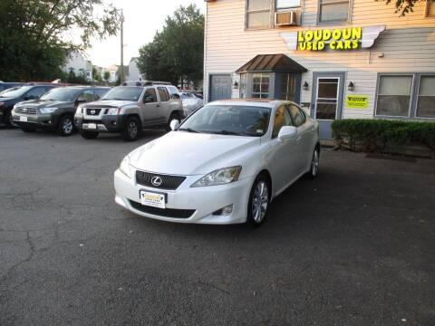 2007 Lexus IS 250 for sale at Loudoun Used Cars in Leesburg VA