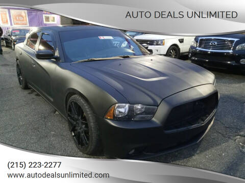 2013 Dodge Charger for sale at AUTO DEALS UNLIMITED in Philadelphia PA