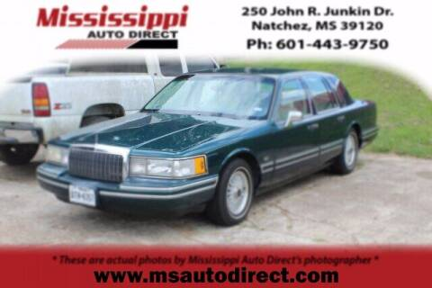 1993 Lincoln Town Car for sale at Auto Group South - Mississippi Auto Direct in Natchez MS