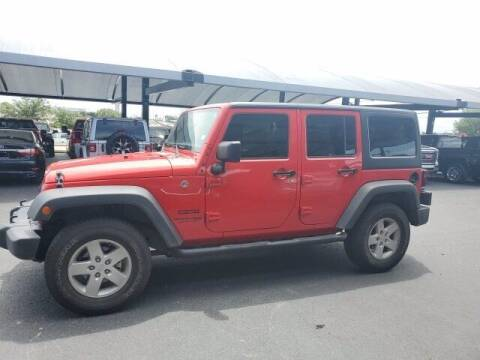 2018 Jeep Wrangler JK Unlimited for sale at Jerry's Buick GMC in Weatherford TX