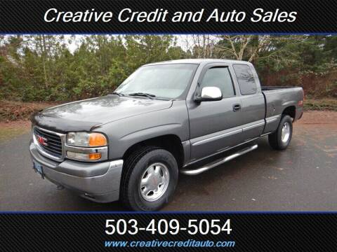 2000 GMC Sierra 1500 for sale at Creative Credit & Auto Sales in Salem OR