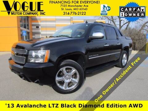 2013 Chevrolet Avalanche for sale at Vogue Motor Company Inc in Saint Louis MO