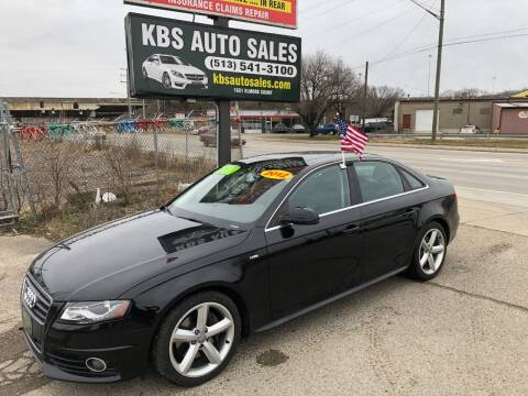 2012 Audi A4 for sale at KBS Auto Sales in Cincinnati OH