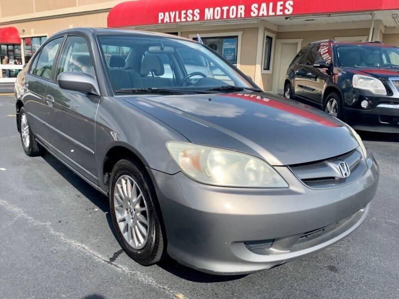 2005 Honda Civic for sale at Payless Motor Sales LLC in Burlington NC