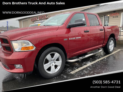2012 RAM Ram Pickup 1500 for sale at Dorn Brothers Truck and Auto Sales in Salem OR