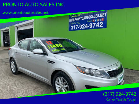 2012 Kia Optima for sale at PRONTO AUTO SALES INC in Indianapolis IN