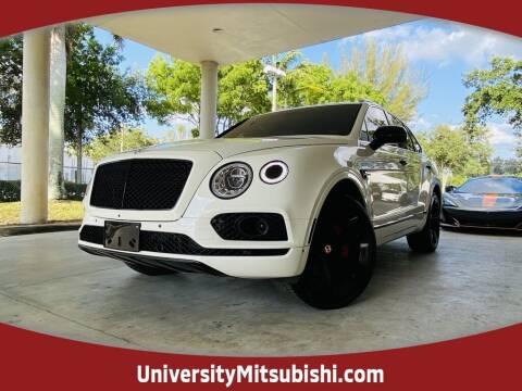 2017 Bentley Bentayga for sale at University Mitsubishi in Davie FL