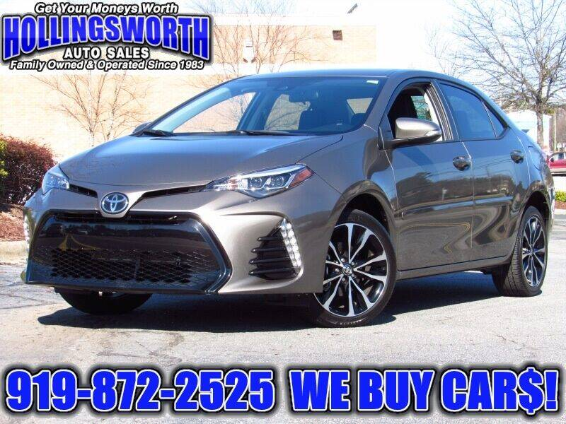 2017 Toyota Corolla for sale at Hollingsworth Auto Sales in Raleigh NC