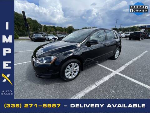 2015 Volkswagen Golf for sale at Impex Auto Sales in Greensboro NC