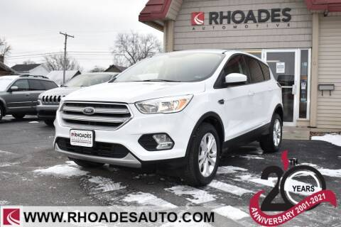 2019 Ford Escape for sale at Rhoades Automotive in Columbia City IN