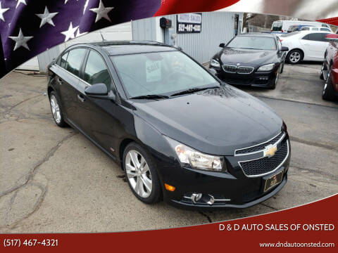2014 Chevrolet Cruze for sale at D & D Auto Sales Of Onsted in Onsted MI
