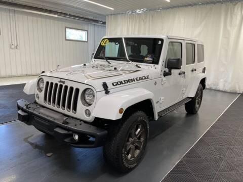 2018 Jeep Wrangler JK Unlimited for sale at Monster Motors in Michigan Center MI