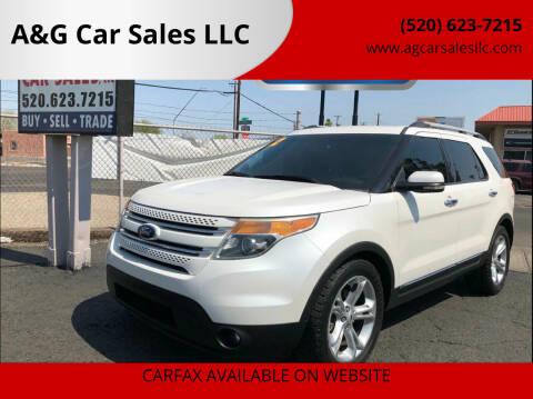 2012 Ford Explorer for sale at A&G Car Sales  LLC in Tucson AZ