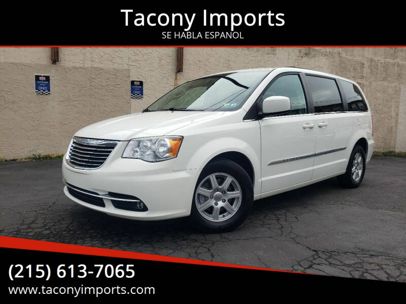 2012 Chrysler Town and Country for sale at Tacony Imports in Philadelphia PA