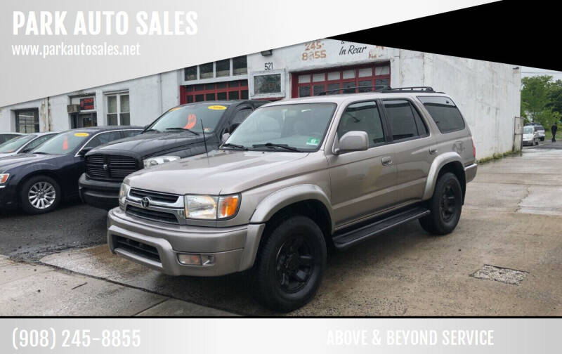 2002 Toyota 4Runner for sale at PARK AUTO SALES in Roselle NJ