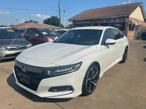 2019 Honda Accord for sale at CityWide Motors in Garland TX