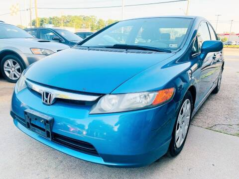 2007 Honda Civic for sale at Auto Space LLC in Norfolk VA