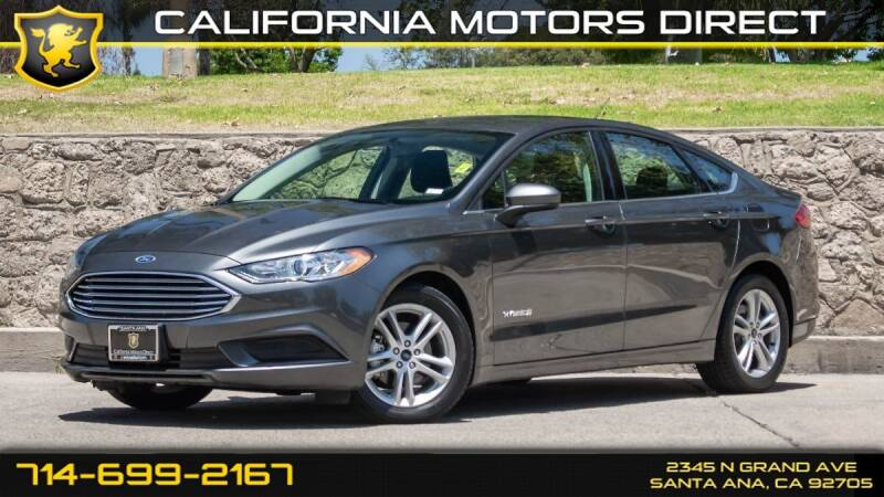 2018 Ford Fusion Hybrid for sale in Santa Ana, CA