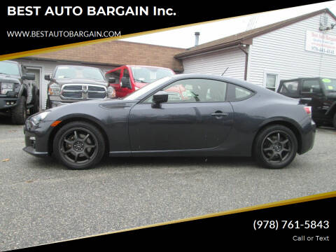 2013 Subaru BRZ for sale at BEST AUTO BARGAIN inc. in Lowell MA