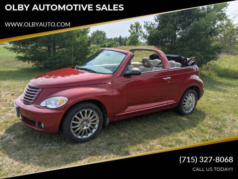 2007 Chrysler PT Cruiser for sale at OLBY AUTOMOTIVE SALES in Frederic WI