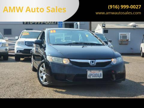 2011 Honda Civic for sale at AMW Auto Sales in Sacramento CA