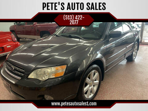 2007 Subaru Outback for sale at PETE'S AUTO SALES LLC - Middletown in Middletown OH