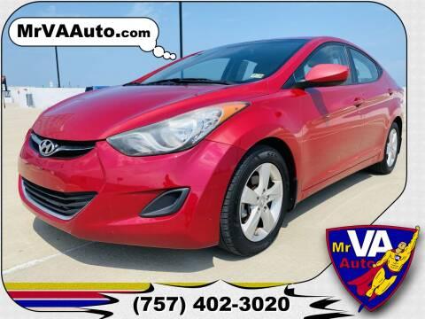 2013 Hyundai Elantra for sale at Mr VA Auto in Chesapeake VA