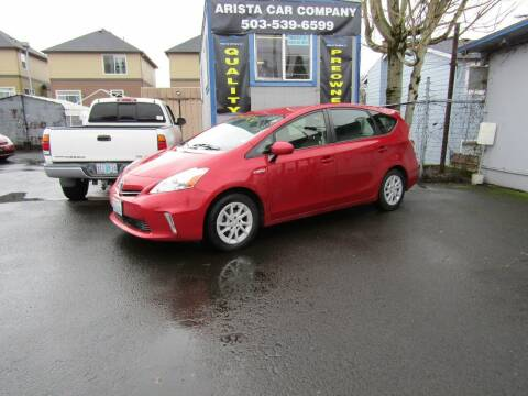 2014 Toyota Prius v for sale at ARISTA CAR COMPANY LLC in Portland OR