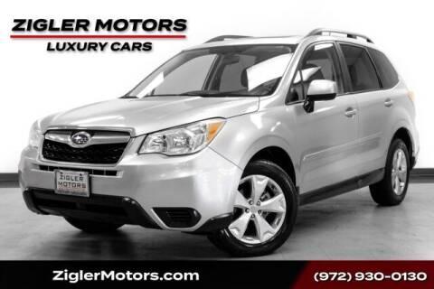 2015 Subaru Forester for sale at Zigler Motors in Addison TX