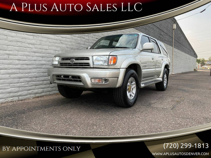 2000 Toyota 4Runner for sale at A Plus Auto Sales LLC in Denver CO