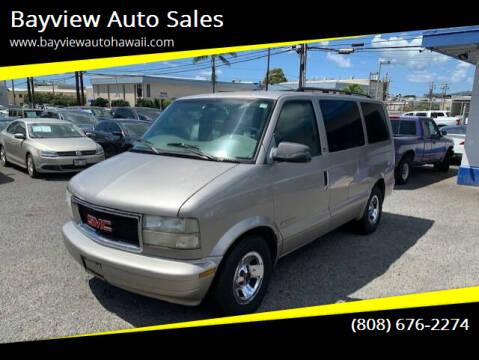 2002 GMC Safari for sale at Bayview Auto Sales in Waipahu HI
