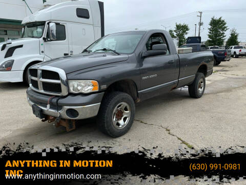 2004 Dodge Ram Pickup 2500 for sale at ANYTHING IN MOTION INC in Bolingbrook IL