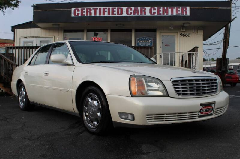 2002 Cadillac DeVille for sale at CERTIFIED CAR CENTER in Fairfax VA