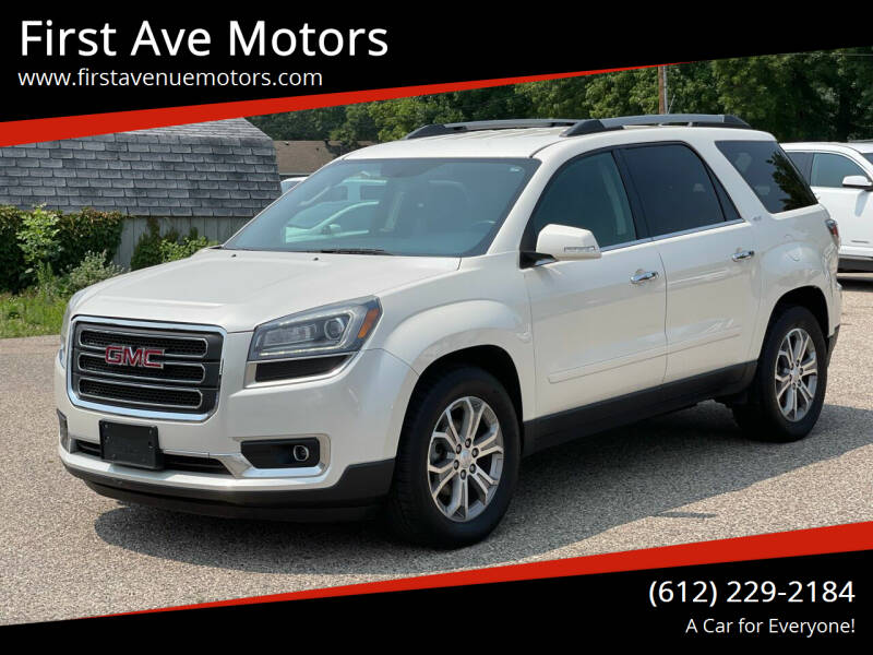 2014 GMC Acadia for sale at First Ave Motors in Shakopee MN