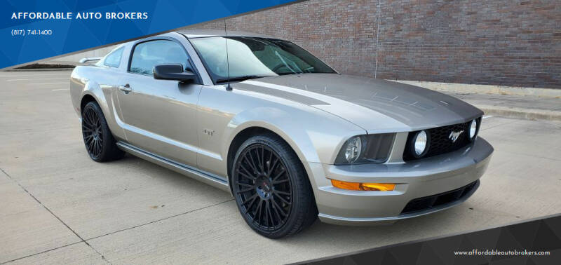 2008 Ford Mustang for sale at AFFORDABLE AUTO BROKERS in Keller TX