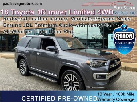 2018 Toyota 4Runner for sale at Paul Sevag Motors Inc in West Chester PA