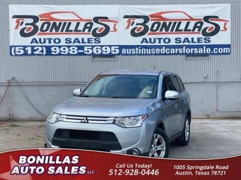 2015 Mitsubishi Outlander for sale at Bonillas Auto Sales in Austin TX
