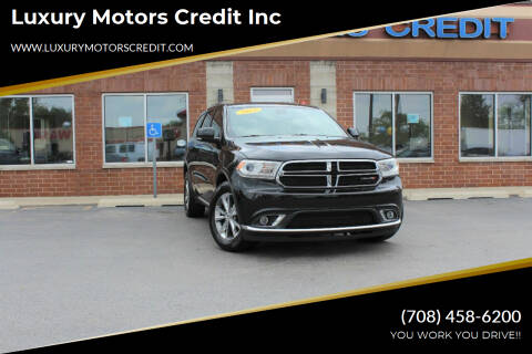 2014 Dodge Durango for sale at Luxury Motors Credit Inc in Bridgeview IL