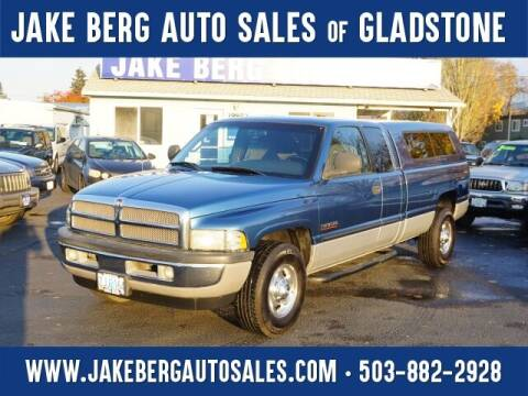 2002 Dodge Ram Pickup 2500 for sale at Jake Berg Auto Sales in Gladstone OR