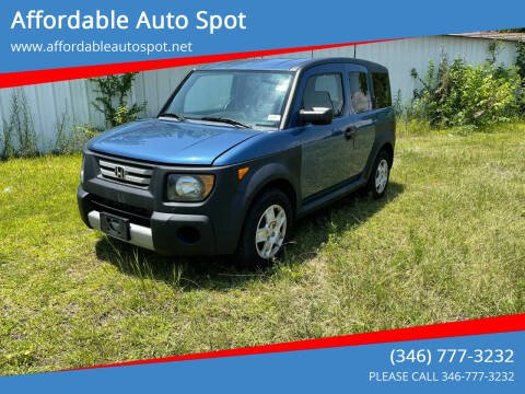 2008 Honda Element for sale at Affordable Auto Spot in Houston TX