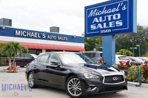 2018 Infiniti Q50 for sale at Michael's Auto Sales Corp in Hollywood FL